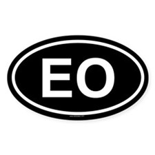EO Oval Decal