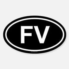 FV Oval Decal