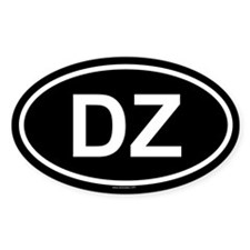 DZ Oval Decal