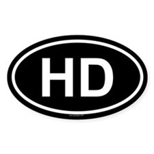 HD Oval Decal