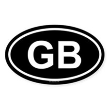 GB Oval Stickers