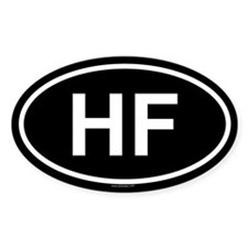 HF Oval Decal