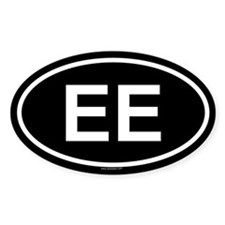 EE Oval Decal