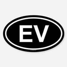 EV Oval Decal