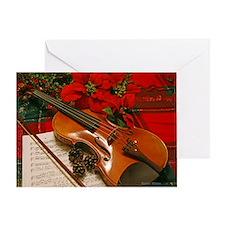 Holiday Violin Sonata Greeting Card