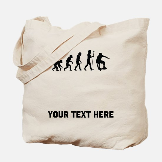 Skateboarder Evolution Tote Bag