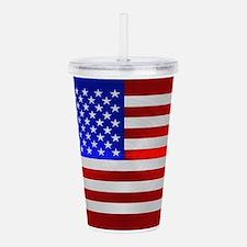 USA FLAG METAL 2 Acrylic Double-wall Tumbler