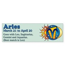 Aries Zodiac Bumper Bumper Sticker