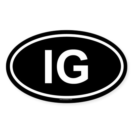 IG Oval Sticker