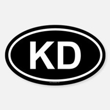 KD Oval Decal