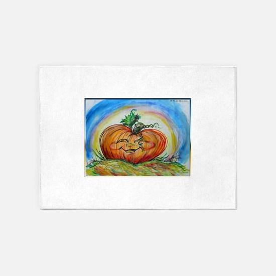 Pumpkin! Jack O Lantern! Halloween! 5'x7'Area Rug