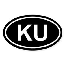 KU Oval Decal