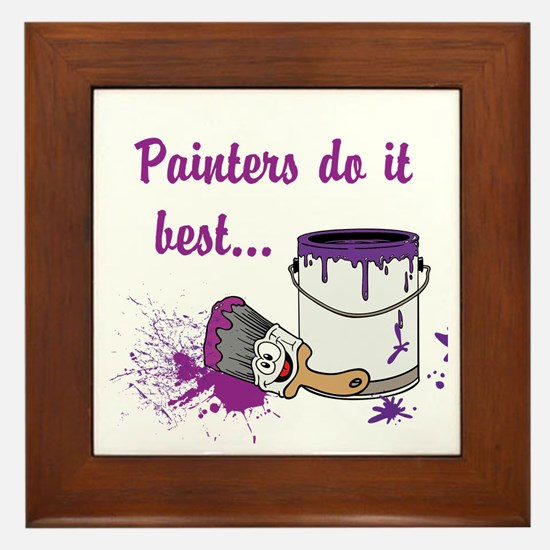 Painters Do It Best Framed Tile