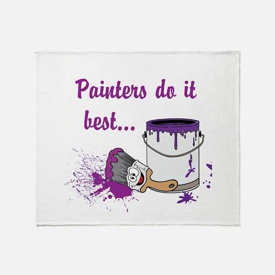 Painters Do It Best Throw Blanket
