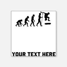 Skateboarding Evolution Sticker
