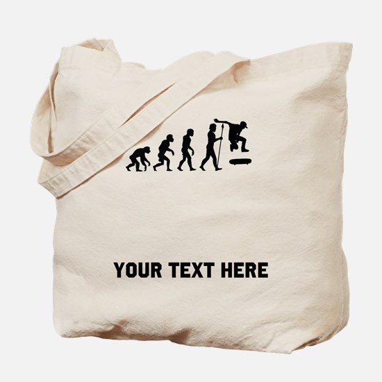 Skateboarding Evolution Tote Bag