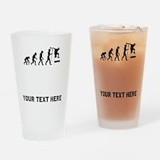 Skateboarding Evolution Drinking Glass