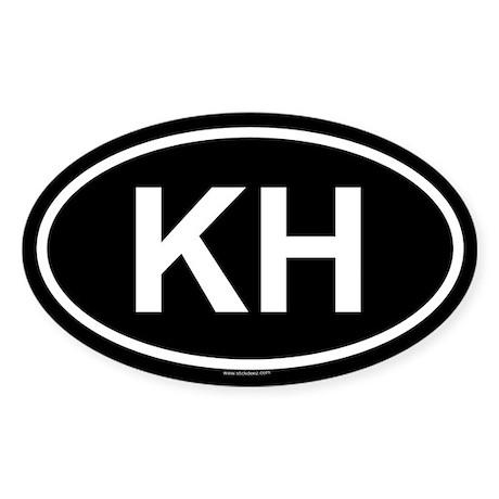 KH Oval Sticker