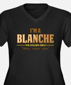 I'm a Blanche Women's Dark Plus Size V-Neck T-Shir