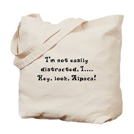 Distracted by Alpaca Tote Bag