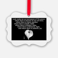 Prayer of St. Francis with Calla Lily Ornament