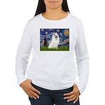 Starry / Samoyed Women's Long Sleeve T-Shirt