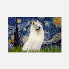 Starry / Samoyed Rectangle Magnet
