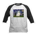 Starry / Samoyed Kids Baseball Jersey