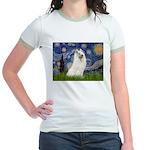 Starry / Samoyed Jr. Ringer T-Shirt