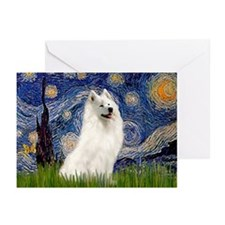 Starry / Samoyed Greeting Cards (Pk of 20)