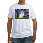 Starry / Samoyed Fitted T-Shirt