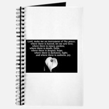 Prayer of St. Francis with Calla Lily Journal