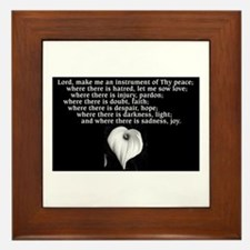 Prayer of St. Francis with Calla Lily Framed Tile