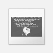 Prayer of St. Francis with Calla Lily Sticker