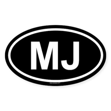 MJ Oval Sticker