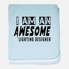 I Am Lighting designer baby blanket