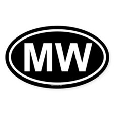 MW Oval Decal