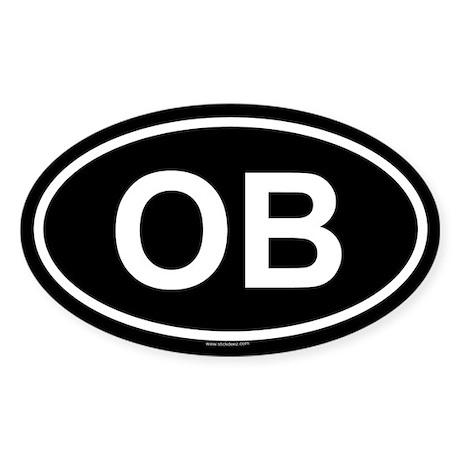 OB Oval Sticker