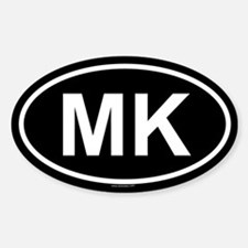 MK Oval Decal