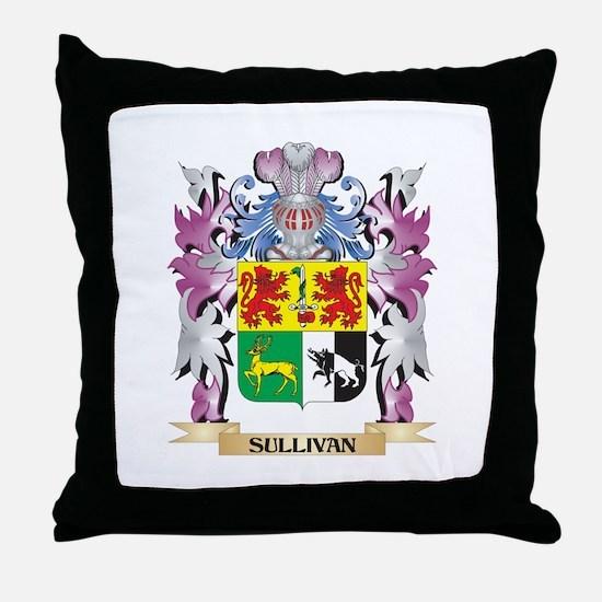 Sullivan Coat of Arms - Family Crest Throw Pillow