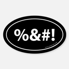%&#! Auto Sticker -Black (Oval)
