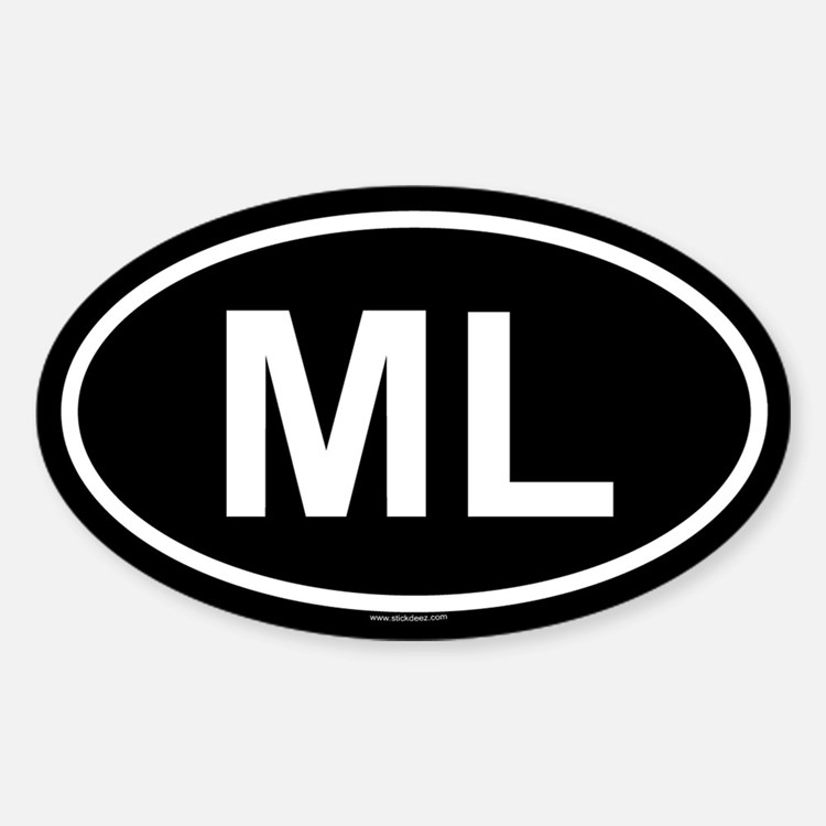 ML Oval Decal