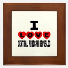 I Love Central African Framed Tile