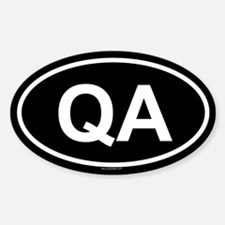 QA Oval Decal