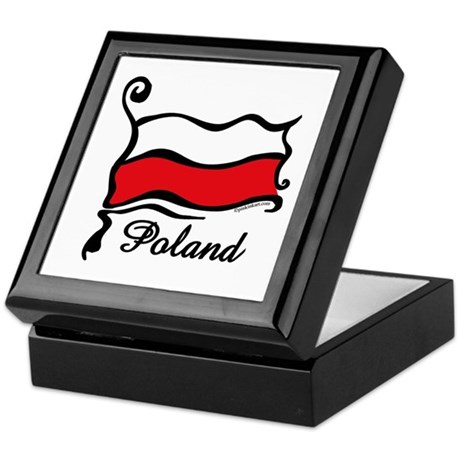 Funky Polish Flag Keepsake Box