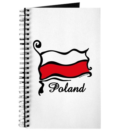 Funky Polish Flag Journal