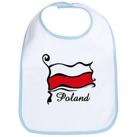 Funky Polish Flag Bib