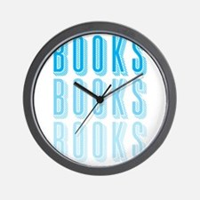BOOKS BOOKS BOOKS Wall Clock