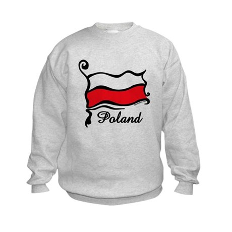 Funky Polish Flag Kids Sweatshirt