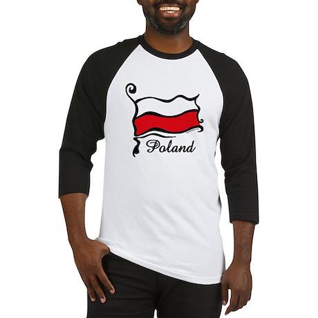 Funky Polish Flag Baseball Jersey